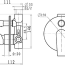 Novaservis Vanová sprchová baterie s přepínačem Nobless Heda chrom 40050R,0