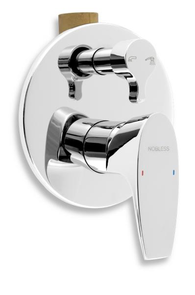 Novaservis Vanová sprchová baterie s přepínačem Nobless Wat chrom 39050R,0