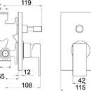 Novaservis Vanová sprchová baterie s přepínačem SHARP chrom 37050R,0