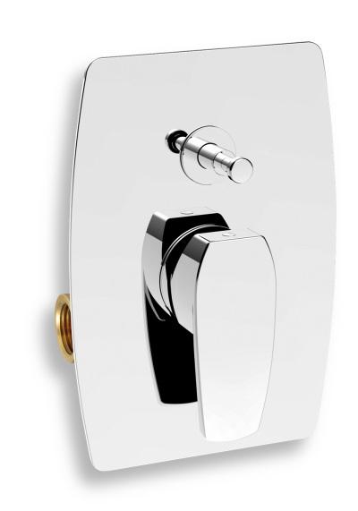 Novaservis Vanová sprchová baterie s přepínačem Studio chrom 31050R,0