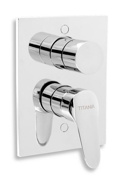Novaservis Vanová sprchová baterie s přepínačem Titania IRIS New chrom 94450R,0