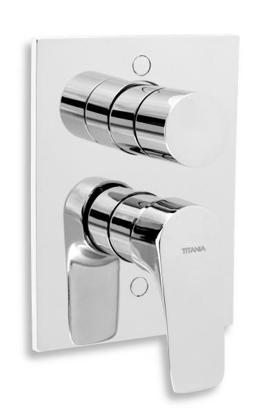 Novaservis Vanová sprchová baterie s přepínačem Titania Nice chrom 97050R,0
