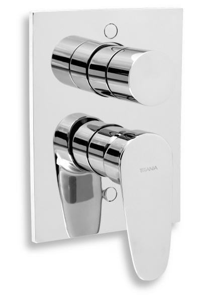 Novaservis Vanová sprchová baterie s přepínačem Titania Smart chrom 98050R,0