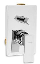 Novaservis Vanová sprchová pod. baterie s přepínačem Titania CUBE chrom 98850R,0
