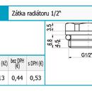 """Novaservis Zátka radiatoru 1/2"""" RA504/15"""