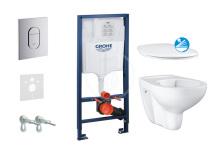 Grohe Rapid SL Sada pro závěsné WC + klozet rimless a sedátko softclose 39418000