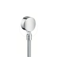 Hansgrohe Kolínka Připojení hadice Fixfit S se zpětným ventilem a kulovým kloubem, chrom 27506000