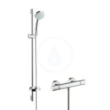 Hansgrohe Ecostat Comfort Combi 0,90 m s ruční sprchou Croma 100 Vario EcoSmart 9 l/min, chrom 27033000