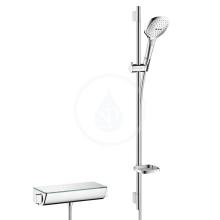 Hansgrohe Ecostat Select Combi 0,90 m s ruční sprchou Raindance Select E 120 3jet, bílá/chrom 27039400