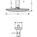 Horní sprcha 400 Air 1jet s přívodem od stropu 100 mm, chrom