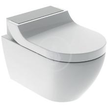 Geberit AquaClean Elektronický bidet Tuma Comfort s keramikou, bílá/kartáčovaná nerez 146.292.FW.1