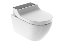 Geberit AquaClean Elektronický bidet Tuma Comfort s keramikou, bílá/černé sklo 146.292.SJ.1