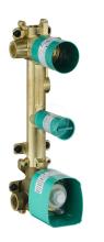 Axor Montážní tělesa Těleso termostatového modulu pro 2 spotřebiče, chrom 36701180