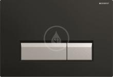 Geberit Sigma40 Ovládací tlačítko Sigma40, pro 2 množství splachování, integrované odsávání zápachu, černá/kartáčovaný hliník 115.600.KR.1