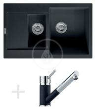 Franke Sety Kuchyňský set G74, granitový dřez MRG 651-78, onyx + baterie FG 7486, onyx 114.0365.402
