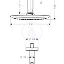 Horní sprcha 400 mm s přívodem od stropu 100 mm, EcoSmart, chrom