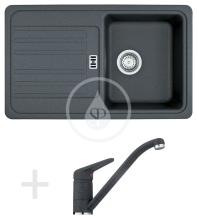 Franke Sety Kuchyňský set G19, granitový dřez EFG 614-78, grafit + baterie FC 9541.099, grafit 114.0120.388