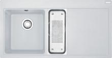 Franke Mythos Fragranitový dřez MTG 651-100/2, 1000x515 mm, bílá-led 114.0150.018