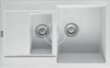 Franke Maris Fragranitový dřez MRG 651-78, 780x500 mm, bílá-led 114.0285.325