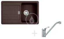 Franke Sety Kuchyňský set G83, granitový dřez EFG 614-78, tmavě hnědá + baterie FG 1839, chrom 114.0365.793