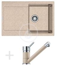 Franke Sety Kuchyňský set G71, granitový dřez MRG 611, pískový melír + baterie FG 7477, pískový melír 114.0365.273