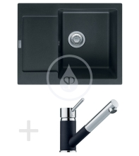 Franke Sety Kuchyňský set G70, granitový dřez MRG 611-62, onyx + baterie FG 7486, onyx 114.0365.253