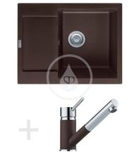 Franke Sety Kuchyňský set G70, granitový dřez MRG 611-62, tmavě hnědá + baterie FG 7486, tmavě hnědá 114.0365.258