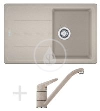 Franke Sety Kuchyňský set G68, granitový dřez BFG 611-78, sahara + baterie FC 9541, sahara 114.0365.181