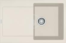 Franke Maris Fragranitový dřez MRG 611, 780x500 mm, vanilka 114.0284.848