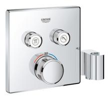 Grohe Grohtherm SmartControl Termostatická vanová baterie pod omítku se dvěma ventily a integrovaným držákem na sprchu, chrom 29125000