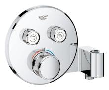 Grohe Grohtherm SmartControl Termostatická sprchová podomítková baterie, 2 ventily, s držákem na sprchu, chrom 29120000