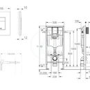Rapid SL pro závěsné WC 38528SET