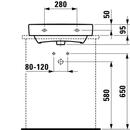 Umyvadlo LAUFEN PRO S umyvadlo 55x38cm s otvorem pro baterii a broušenou s spodní částí
